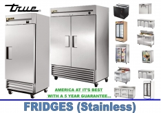 FRIDGES (STAINLESS) by True - K.F.Bartlett LtdCatering equipment, refrigeration & air-conditioning